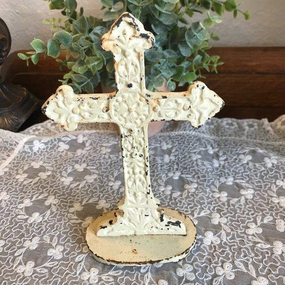 Vintage cast iron cross